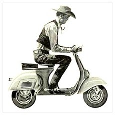 Scooter Cowboy Poster