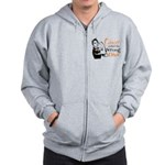 Wrong Diva Leukemia Cancer Zip Hoodie