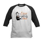 Wrong Diva Leukemia Cancer Kids Baseball Jersey