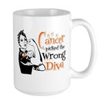 Wrong Diva Leukemia Cancer Large Mug