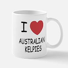 I heart australian kelpies Mug