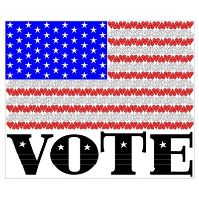 Vote American Flag 2 Poster