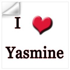 I Love (Heart) Yasmine Wall Decal