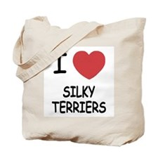 I heart silky terriers Tote Bag