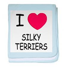 I heart silky terriers baby blanket