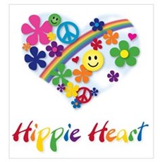 Hippie Heart Canvas Art