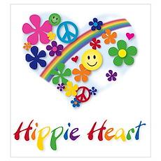 Hippie Heart Poster