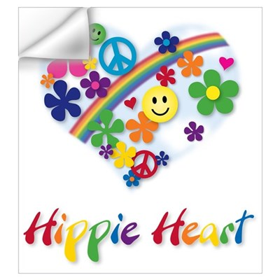 Hippie Heart Wall Decal