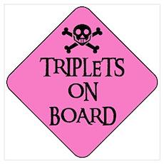 WARNING: TRIPLETS ON BOARD Poster