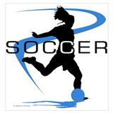 Girls soccer Wrapped Canvas Art