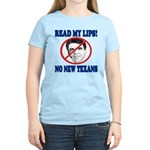 Read My Lips: No New Texans! Women's Light T-Shirt
