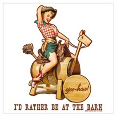 I'd rather be at the barn Poster