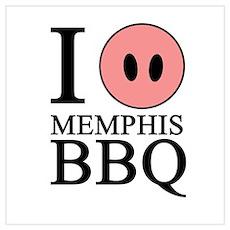 I Love Memphis BBQ Poster
