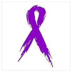 Purple Ribbon Poster