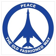 B-1B Peace Sign Canvas Art