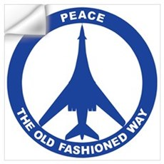 B-1B Peace Sign Wall Decal