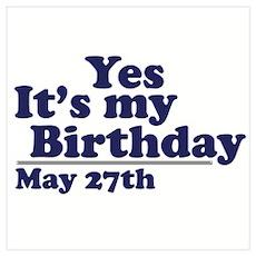 May 27 Birthday Poster