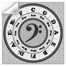 Bass Clef Circle of Fifths Wall Decal