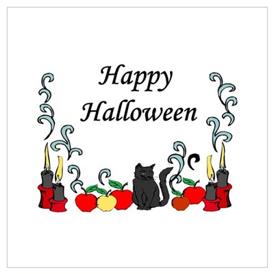 Happy Halloween border Poster