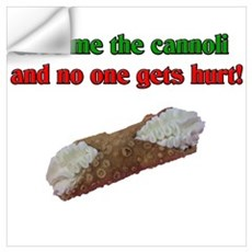 Give me the cannoli and no one gets hurt! Framed P Wall Decal