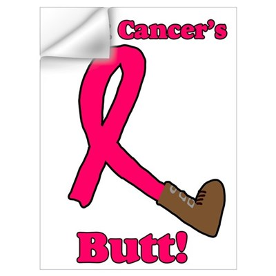 Kick Cancer's Butt Wall Decal