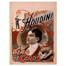 Houdini ~ King of Cards Canvas Art