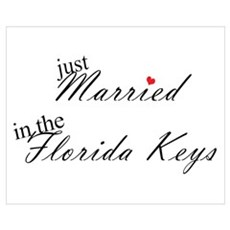 Just Married in the Florida K Poster
