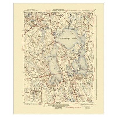Lakeville MA Old Map Framed Print
