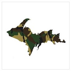 Woodland Camo U.P. Canvas Art