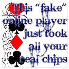 Fake Online Poker Players Canvas Art