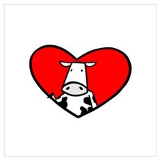 My Heart Goes Out to the Cows Canvas Art