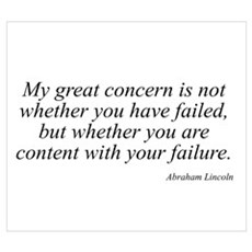 Abraham Lincoln quote 73 Poster
