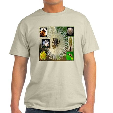 Photo Collage Flora and Fauna Light T-Shirt