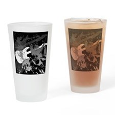 Guitar Splatter Drinking Glass