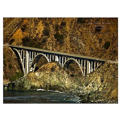 Big Sur Bridge 2 Poster