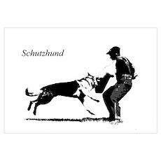 SCHUTZHUND,German Shepherd Poster