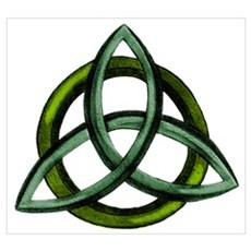 Triquetra Green Poster