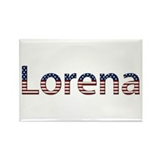 Lorena Stars and Stripes Rectangle Magnet