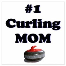 #1 Curling Mom Poster