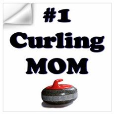 #1 Curling Mom Wall Decal