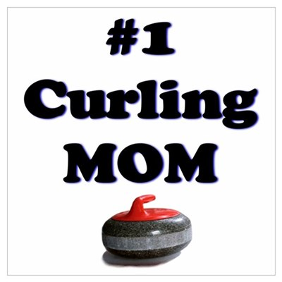 #1 Curling Mom Canvas Art