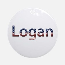Logan Stars and Stripes Round Ornament