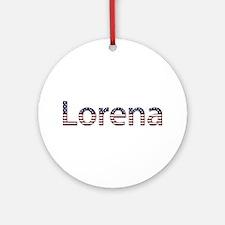 Lorena Stars and Stripes Round Ornament
