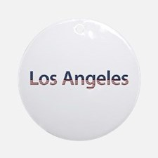 Los Angeles Stars and Stripes Round Ornament
