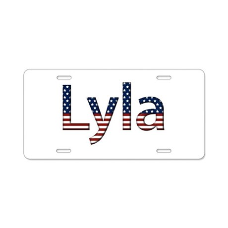 Lyla Stars and Stripes Aluminum License Plate