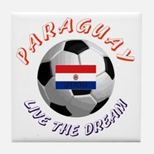 Paraguay world cup Tile Coaster
