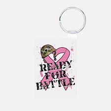 Ready For Battle BreastCancer Keychains