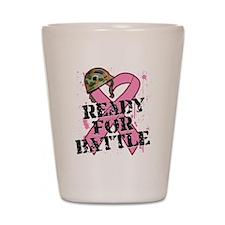 Ready For Battle BreastCancer Shot Glass