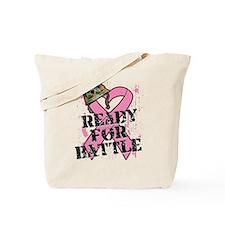 Ready For Battle BreastCancer Tote Bag