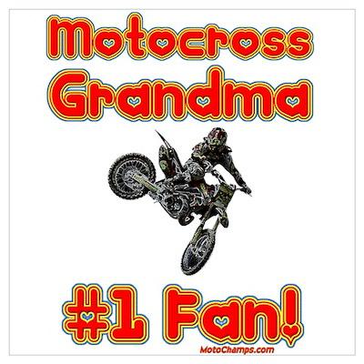"""""""Motocross Grandma"""" Poster"""